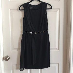 Little black dress with embellished waist